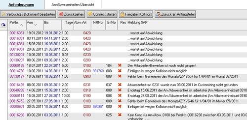 """4. Produktbild Zeitwirtschaft für Lotus Notes SAP HR """"Out of Office"""""""