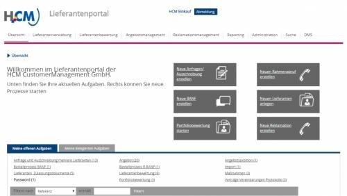 1. Produktbild HCM Lieferantenmanagement - Lieferantendatenbank Beschaffung Einkauf