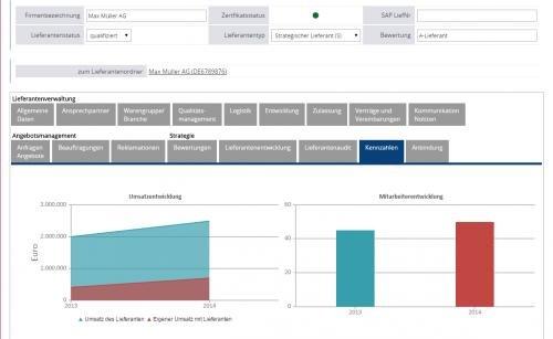 3. Produktbild HCM Lieferantenmanagement - Lieferantendatenbank Beschaffung Einkauf