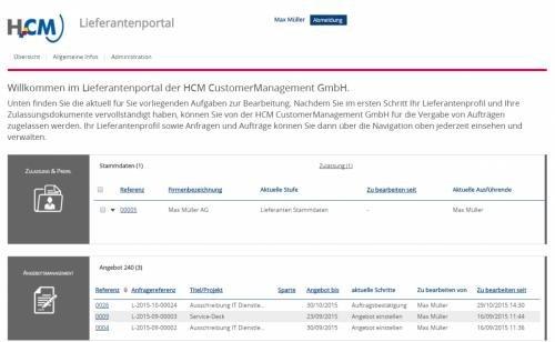 4. Produktbild HCM Lieferantenmanagement - Lieferantendatenbank Beschaffung Einkauf