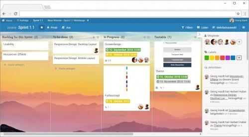 Agile Planung von Sprint 1.1 mit PLANTA pulse