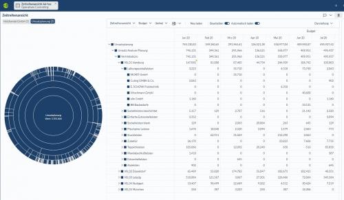 Corporate Planner Analyse Umsatzplanung