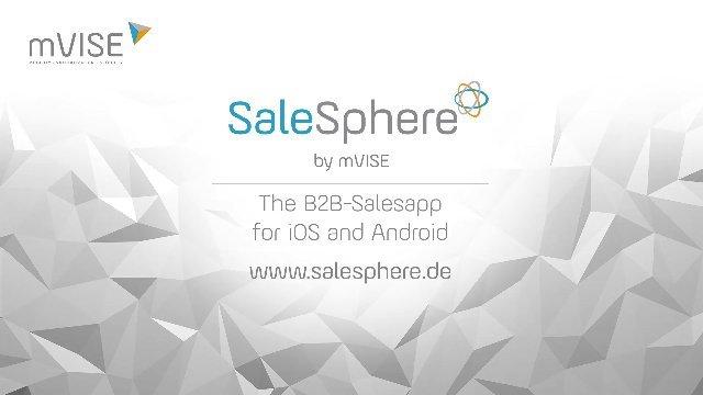 1. Produktvideo SaleSphere - mobile Lösung für vertrieblichen Außendienst