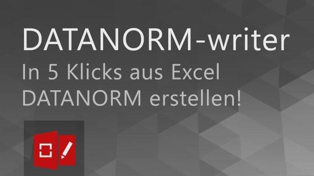 1. Produktvideo DATANORM-writer