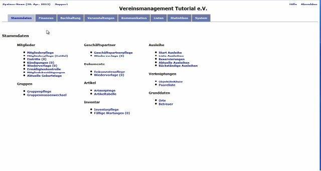 4. MGVO - Online Vereinsmanagementsystem - Einfache Beitragsstruktur