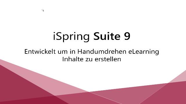 1. Produktvideo iSpring-Suite - Erstellung von Umfragen, Test und Online-Training
