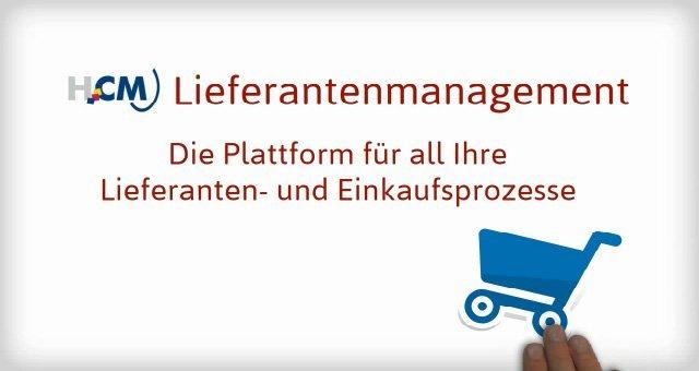2. Produktvideo HCM Lieferantenmanagement - Lieferantendatenbank Beschaffung Einkauf