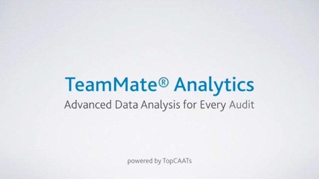 1. Produktvideo TeamMate Analytics