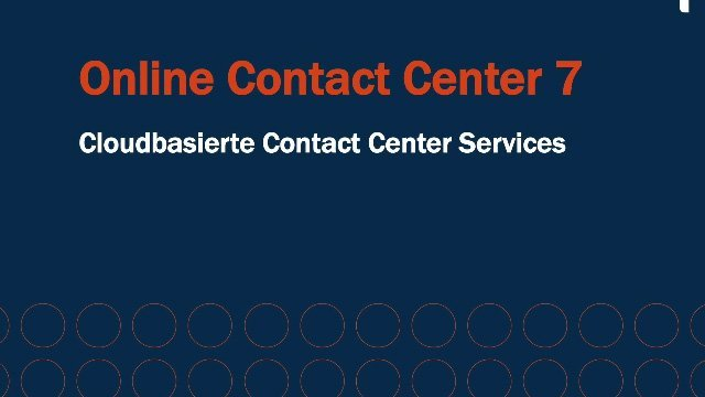 1. Produktvideo Cloud Contact Center