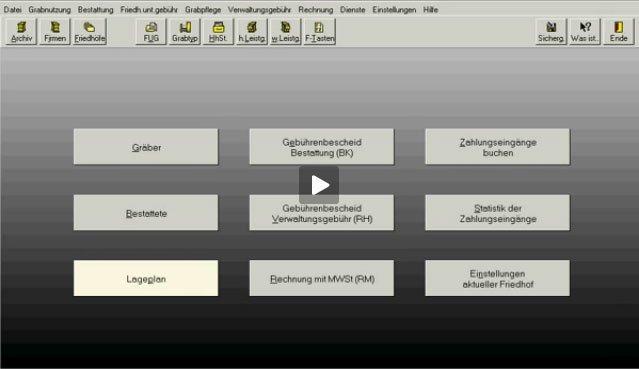 3. Produktvideo  PC-FRIEDHOF Software zur Friedhofsverwaltung