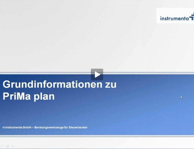 1. Produktvideo PriMa plan (vorher: Vermögensplan 2018) - Finanzplanungssoftware
