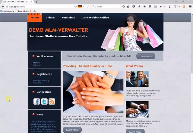 1. Produktvideo MLM Software