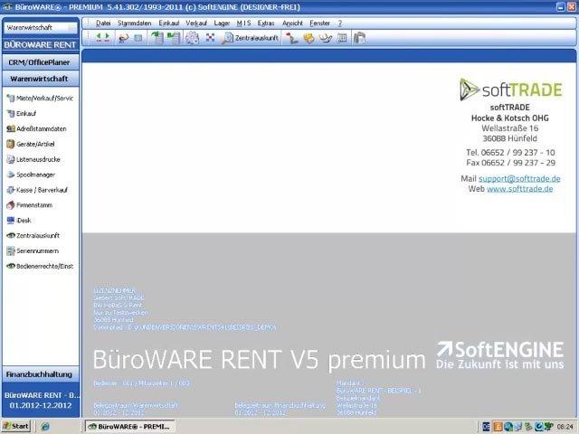 Produktvideo BüroWARE RENT - Belegbaum Warenausgang