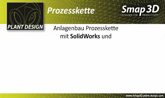 1. Produktvideo Smap3D Plant Design: 3D CAD für Rohrleitungen und Anlagenbau