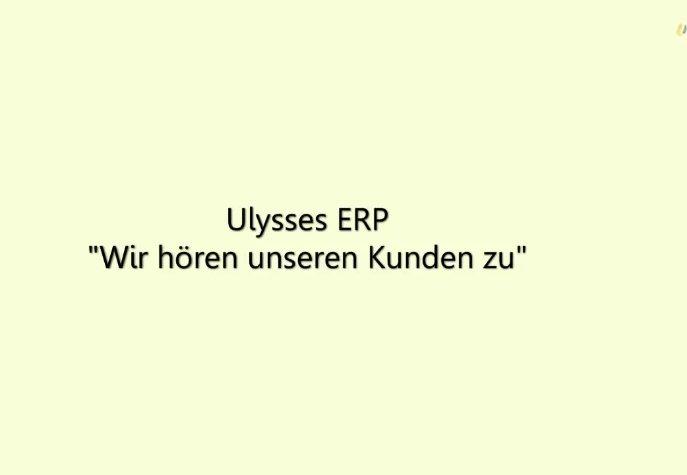 6. Produktvideo  Ulysses ERP - Software für die Fertigungsindustrie