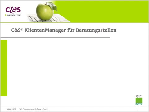 C&S® KlientenManager für Beratungsstellen