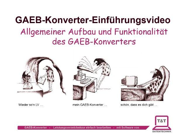 Video: Einführung in den GAEB-Konverter