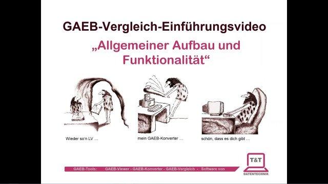 GAEB-Vergleich:   allgemeine Einführung