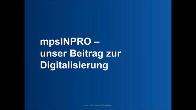 mpsINPRO Prozess- und Vorgangsmanagement