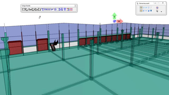 TRICAD MS Lüftung based on MicroStation CAD Ductwork BIM Piping
