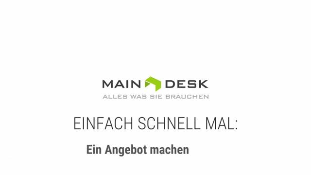 Angebot machen | Auftragsbearbeitung in MAINDESK