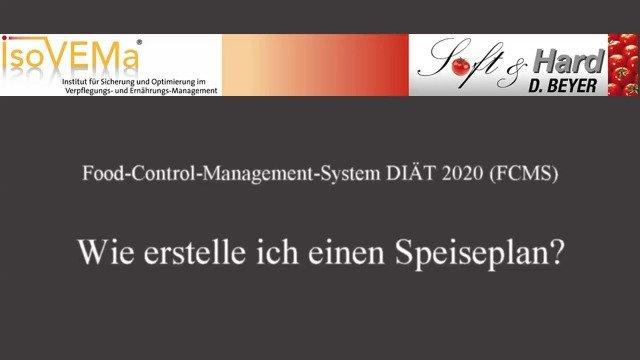 SPEISEPLANERSTELLUNG - Verpflegungsmanagement-Software FCMS