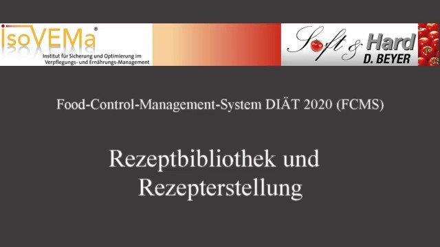 REZEPTBIBLIOTHEK & REZEPTERSTELLUNG - Verpflegungsmanagement-Software FCMS
