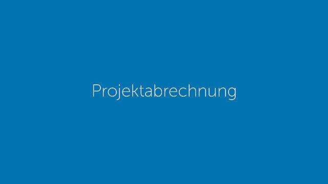Projektabrechnung