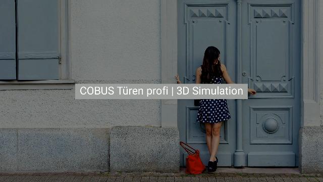 COBUS Türen profi | CAD/CAM 3D Simulation