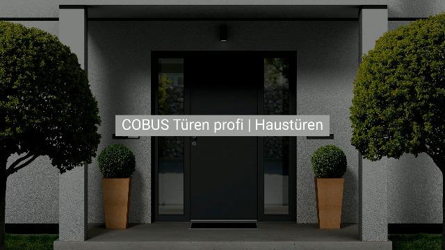 COBUS Türen profi | Die CAD/CAM Lösung für Haustüren - Blatttür