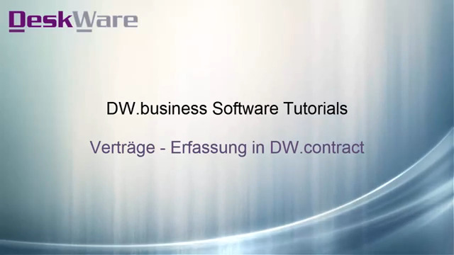 DW.contract - Vertragserfassung