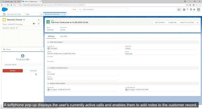 CallOne Salesforce CTI App