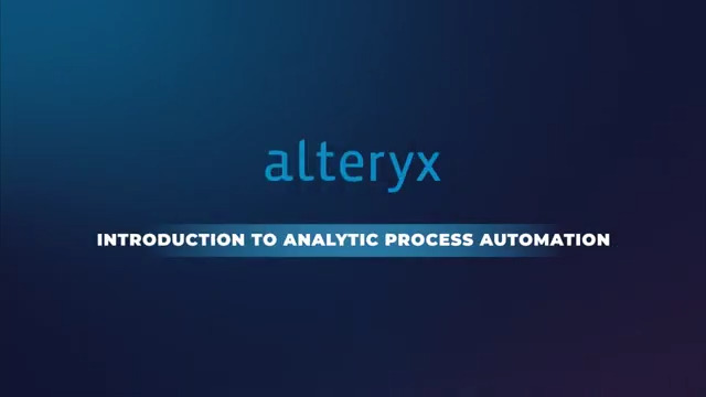 Introduction to Analytic Process Automation