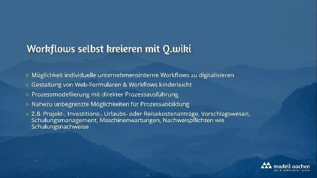 Q.wiki – Workflow Management System