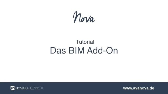 NOVA AVA BIM Add On - Teil 1