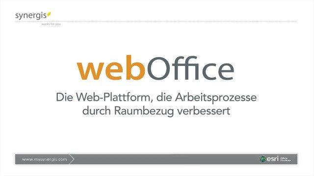 WebOffice WebGIS: ArcGIS erweitern, Arbeitsprozesse optimieren