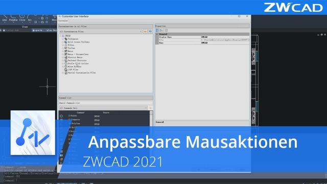 Anpassbare Mausaktionen | ZWCAD 2021 Official