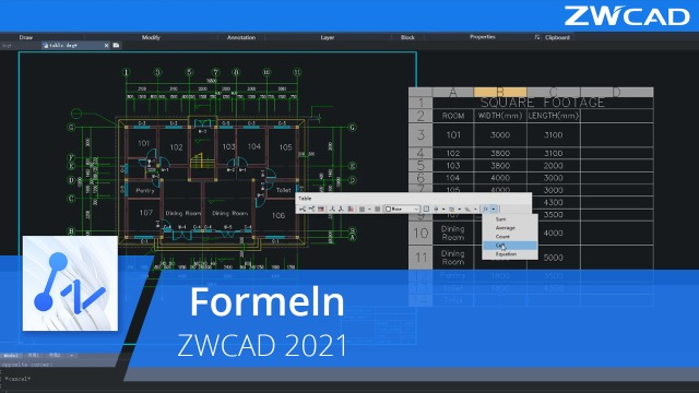 Formeln | ZWCAD 2021 Official