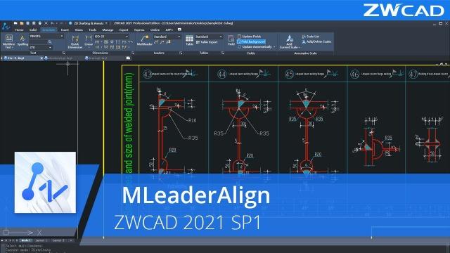 MLeaderAlign | ZWCAD 2021 SP1