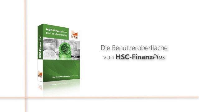 Die Benutzeroberfläche von HSC-FinanzPlus