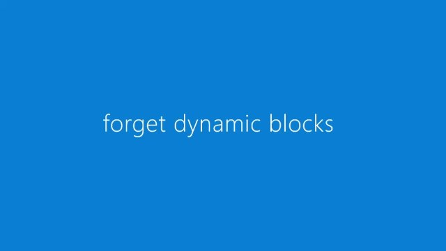 forget dynamic blocks - use the SYSCAD library