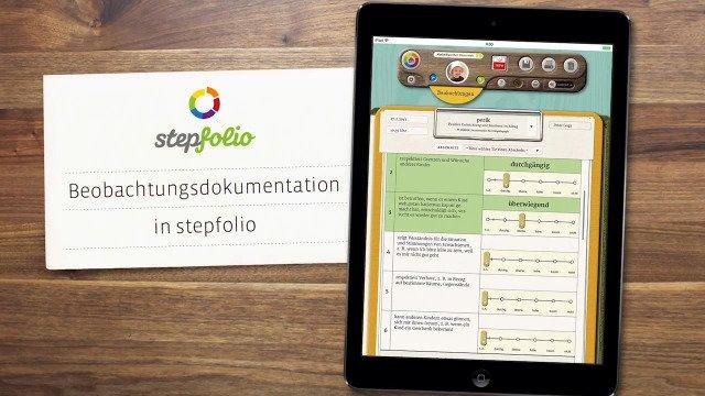 Pädagogische Beobachtungen mit stepfolio