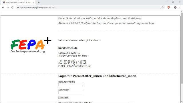 FePa+ - Die Ferienpassverwaltung