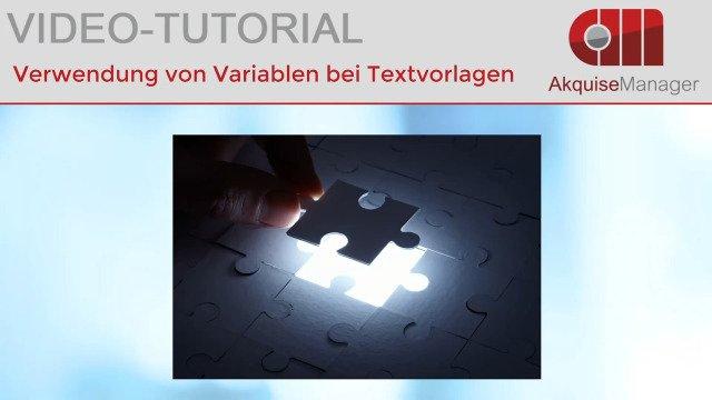 Verwendung von Variablen in Textvorlagen