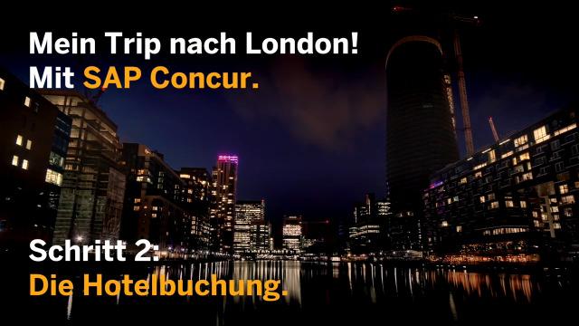 Hotelbuchung mit der SAP Concur Mobile App