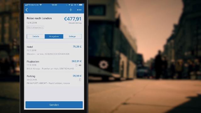 Mobile Reisekostenabrechnung mit Concur Expense