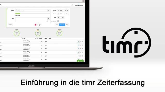 Einführung in die timr Arbeitszeiterfassung und Projektzeiterfassung
