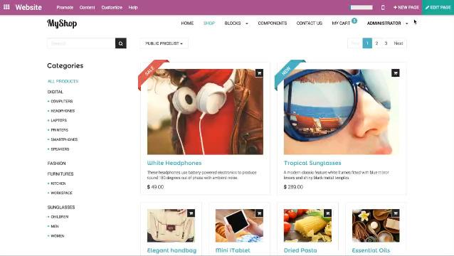 E-Commerce Überblick Funktionen Präsentieren Themen