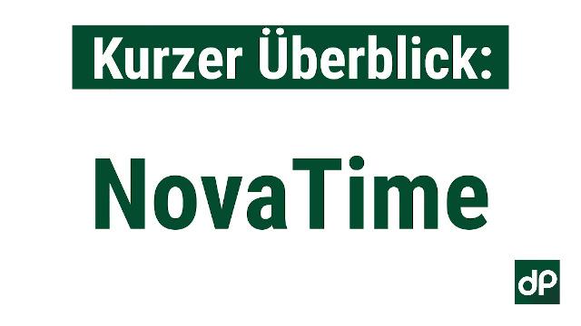 NovaTime Zeiterfassung in 3 Minuten erklärt dP elektronik