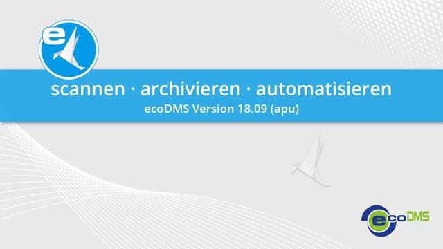 ecoDMS - scannen, archivieren, automatisieren